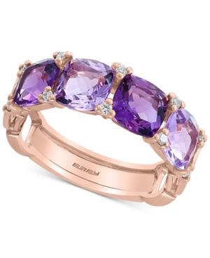 Effy Amethyst (3-1/2 ct. t.w.) & Diamond (1/10 ct. t.w.) Ring in 14K Rose Gold