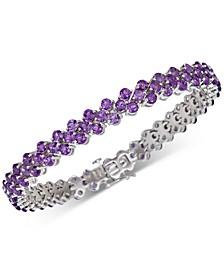 Amethyst Cluster Bracelet (15 ct. t.w.) Link Bracelet in Sterling Silver