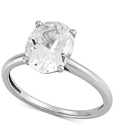 Arabella Swarovski Zirconia Oval Ring in 14k White Gold