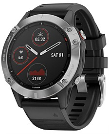 Fenix 6 Black Silicone Strap Smart Watch 47mm