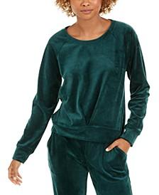 Pleated Velour Sweatshirt, Created for Macy's