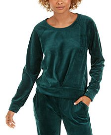Ideology Pleated Velour Sweatshirt, Created for Macy's