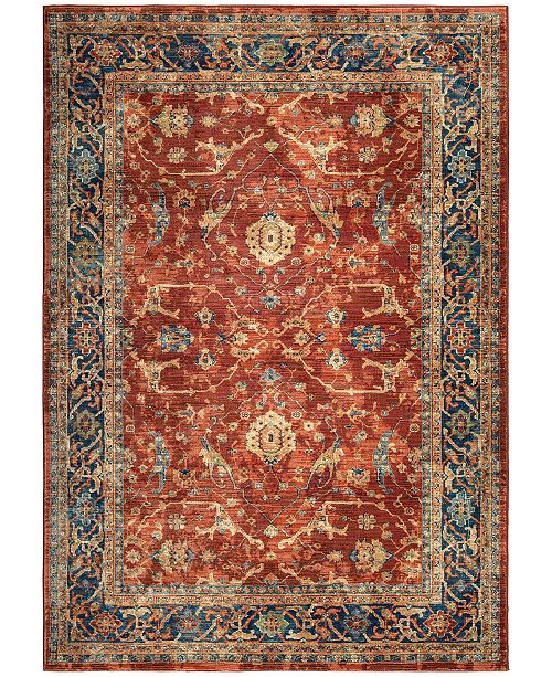 Palmetto Living ORI380668 Alexandria Ankara Red 7'8 x 10'10 Area Rug
