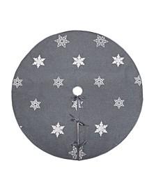 "Glisten Snowflake Embroidered Christmas Tree Skirt, 56"" Round"