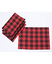 """Holiday Plaid Placemats 14"""" x 20"""", Set of 4"""