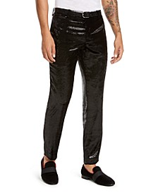 I.N.C. Men's ONYX Slim-Fit Shiny Velvet Pants, Created For Macy's