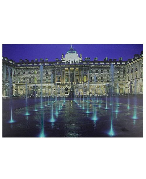"""Northlight LED Lighted Famous Somerset House London Canvas Wall Art, 15.75"""" x 23.5"""""""