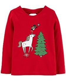 Carter's Baby Girls Holiday Unicorn-Print Cotton T-Shirt