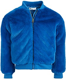 Toddler Girls Faux-Fur Bomber Jacket, Created For Macy's