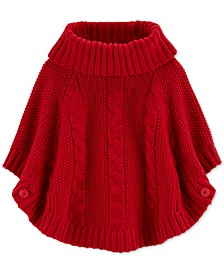 Toddler Girls Sparkly Poncho Sweater