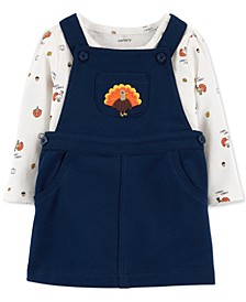 Baby Girls 2-Pc. Cotton Turkey Bodysuit & Jumper Set