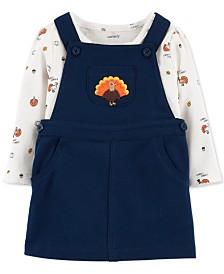Carter's Baby Girls 2-Pc. Cotton Turkey Bodysuit & Jumper Set