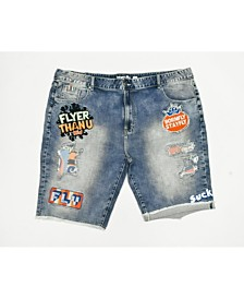 BT SOUR PTCH DENIM SHORT