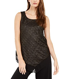 Metallic Pointed-Hem Top, Created For Macy's