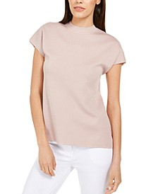 Mock-Neck Dolman-Sleeve Top