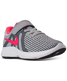 Little Girls' Revolution 4 Athletic Sneakers from Finish Line