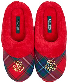 Women's Script-Embroidered Slippers