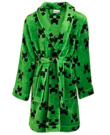 Little & Big Boys Fleece Minecraft Robe