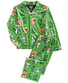Little & Big Boys 2-Pc. Minecraft Pajamas Set