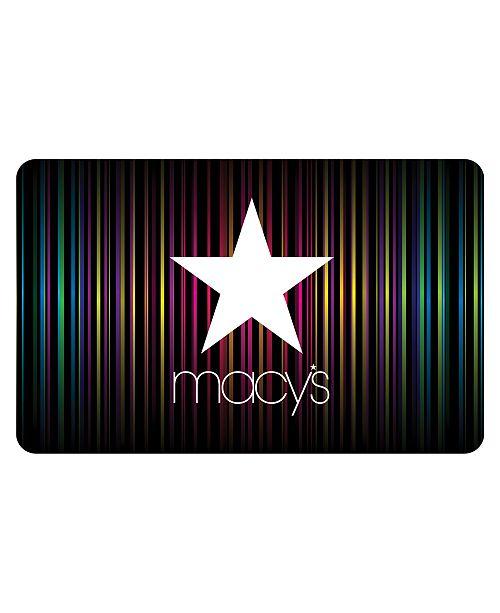 Macy's Rainbow Star E-Gift Card