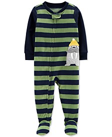 Toddler Boys 1-Pc. Walrus Fleece Footie Pajamas