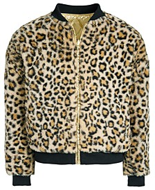 Big Girls Faux-Fur Reversible Bomber Jacket, Created For Macy's