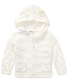 Polo Ralph Lauren Baby Girls Bear-Hood Cotton Cardigan