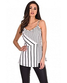 Women's and Striped Strappy Top