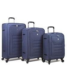 Noir 3-Pc. Softside Spinner Luggage Set