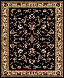 "CLOSEOUT! 1596/1310/BLACK Pesaro Black 3'3"" x 4'11"" Area Rug"