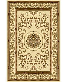 KM Home 1419/1310/IVORY Navelli Ivory 3'3 x 5'4 Area Rug