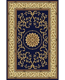 "CLOSEOUT! 1419/1343/NAVY Navelli Blue 7'9"" x 11'6"" Area Rug"