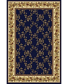 "CLOSEOUT! 1427/1742/NAVY Navelli Blue 7'9"" x 9'6"" Area Rug"