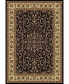 "CLOSEOUT! 1318/1520/BLACK Navelli Black 3'3"" x 5'4"" Area Rug"