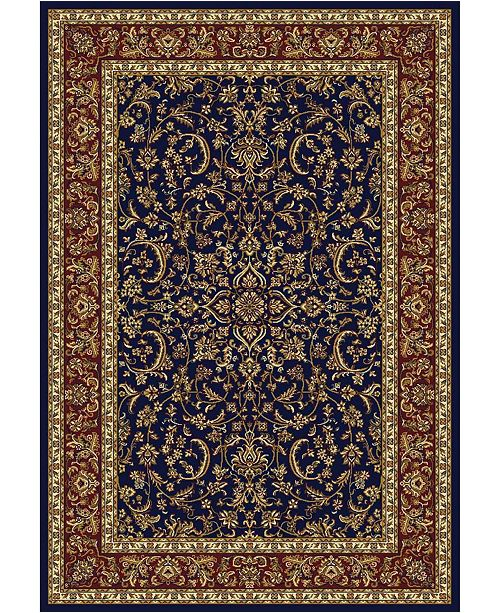 """KM Home CLOSEOUT! 1318/1544/NAVY Navelli Blue 7'9"""" x 9'6"""" Area Rug"""