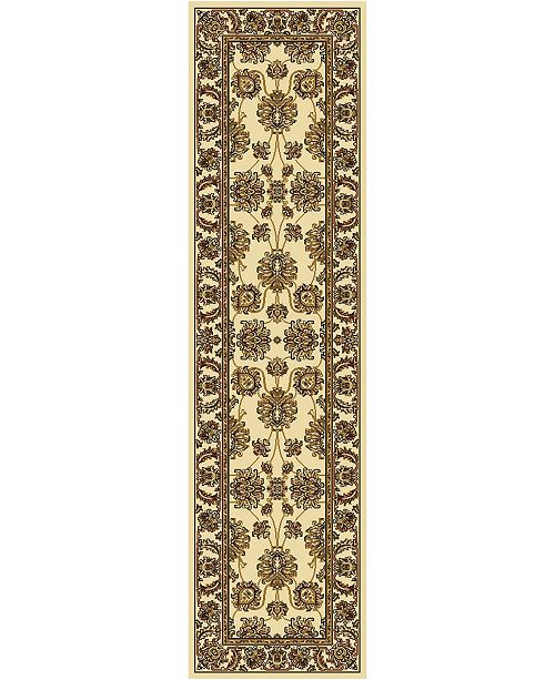 """KM Home CLOSEOUT! 1330/1214/IVORY Navelli Ivory 2'2"""" x 8' Runner Rug"""