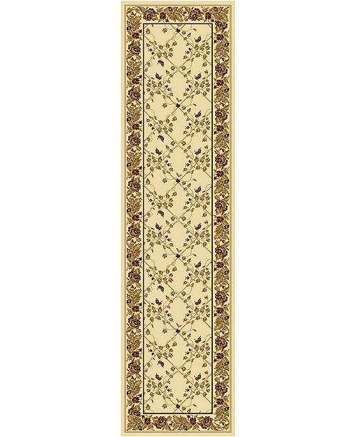"KM Home CLOSEOUT! 1427/1714/IVORY Navelli Ivory 2'2"" x 8' Runner Rug"