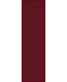 "CLOSEOUT! 782/1714/RED Pesaro Red 2'2"" x 7'7"" Runner Rug"