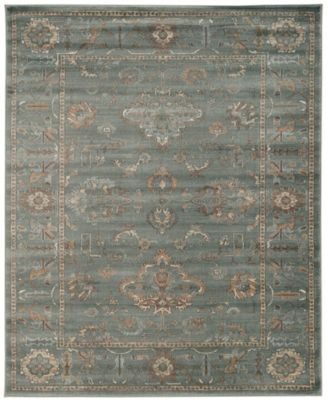 "CLOSEOUT! 3562/0051/GREEN Cantu Green 5'3"" x 7'3"" Area Rug"
