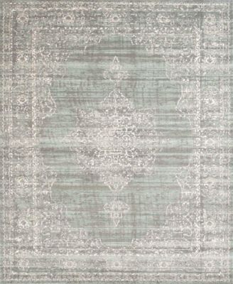 "CLOSEOUT! 3563/0052/GREEN Cantu Green 7'10"" x 10'6"" Area Rug"