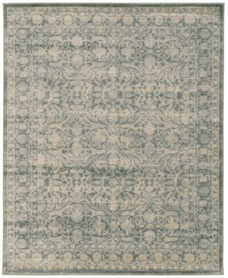 "CLOSEOUT! 3564/0051/GREEN Cantu Green 5'3"" x 7'3"" Area Rug"