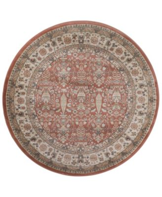 """CLOSEOUT! 3812/1034/TERRACOTTA Gerola Red 5'3"""" x 5'3"""" Round Area Rug"""