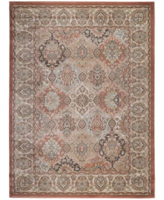 """CLOSEOUT! 3802/0021/TERRACOTTA Gerola Red 5'3"""" x 7'3"""" Area Rug"""