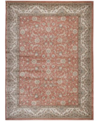 """CLOSEOUT! 3810/0021/TERRACOTTA Gerola Red 5'3"""" x 7'3"""" Area Rug"""