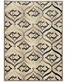 "CLOSEOUT! 3796/1000/BONE Imperia Ivory/ Cream 3'3"" x 4'11"" Area Rug"