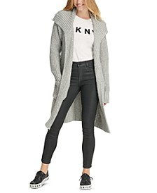 Open-Front Long Cardigan Sweater