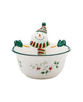Winterberry Snowman Medium All Purpose Bowl