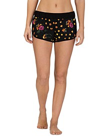 Juniors' Supersuede Tropicamo Beachrider Shorts