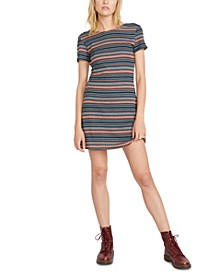Juniors' So Far Out Scoop-Back T-Shirt Dress