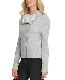Asymmetrical Zip-Front Sweater